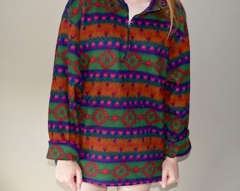 Patterned Fleece Sweater
