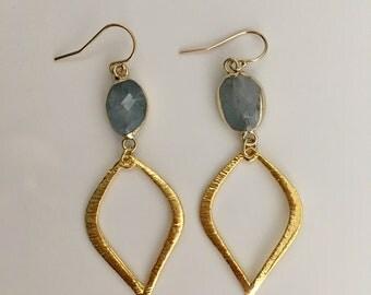 Labradorite Raindrop Earrings