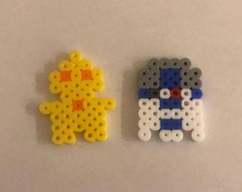 Chibi Star Wars Perler Bead Pin Set