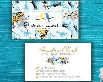 Chloe and Isabel Business Card, Custom Chloe and Isabel Card, Fast Free Personalization, Chloe and Isabel, Printable Business Card CL09