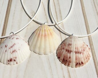 Seashell Necklace, Beach Jewelry, Necklaces, Scallop Shell Necklace, Scallop Shell Jewelry, Nautical Necklace