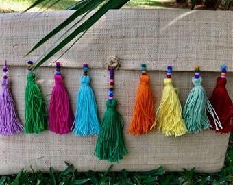 """Handmade Hippie Straw Clutch """"#13"""""""