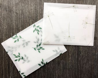 Transparent Envelopes Set - Botanical