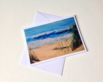 """Map double repro photo painting """"wave on the Atlantic"""""""