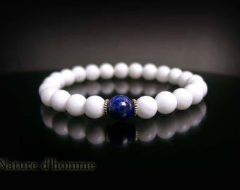 Jewel man - in stones of lapis lazuli and white jade Ref: BN-448