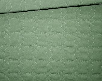 Pique fabric quilted 50 x 150 cm, ellipses, dark green