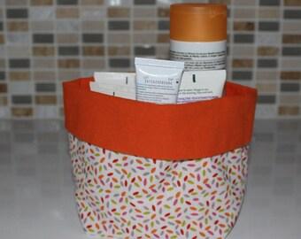 Basket of bath - reversible - pattern petal - washable