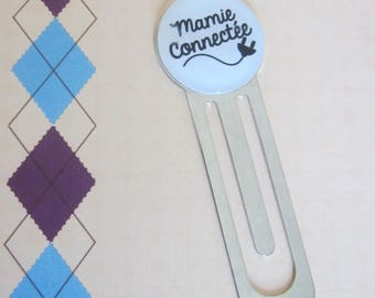 """Gift for Grandma: """"Grandma connected"""" bookmark"""