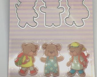 Dies and stamps bears