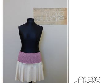 Skirt from organic linen Jersey with organic cotton waistband