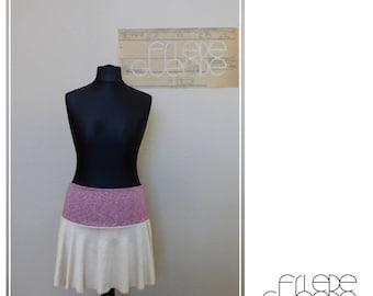 Skirt from organic linen Jersey with organic cotton waistband