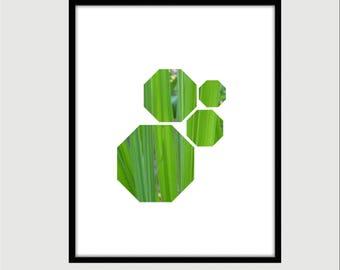 Green Grass Octagonal Art Print