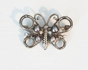 Industrial Looking Butterfly Brooch