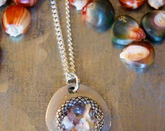 Bezel Corn Jewelry Pendant - ZHarvest Gems - Unique handcrafted pendants made from corn.
