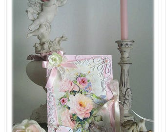 """Romantic, """"Armful of old Roses"""" birthday card"""