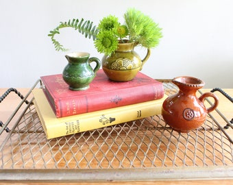 Latvian Bud Vase Set - Vintage Pottery