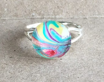 Pastel marble ring