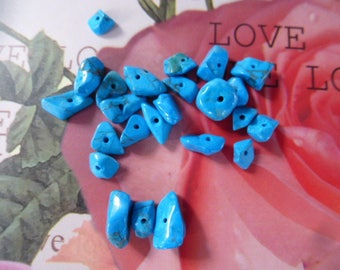chips turquoise sachet 5 g for creations of jewels and other creations