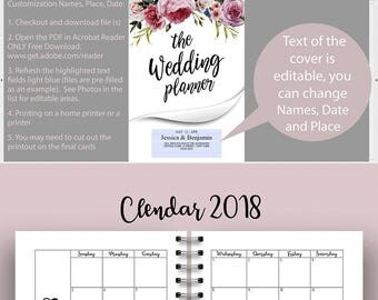 Wedding Planner Printable, Printable Wedding Planner, Wedding Planning Book, Wedding Binder Template, Engagement Gift Ideas, PDF Download