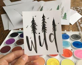 "Watercolor ""Wild"" Print"