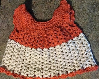 Handmade crochet girl dress
