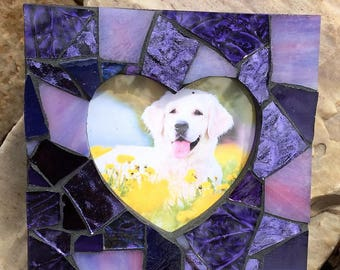 Mosaic Picture Frame/Mosaic Frame/Heart Shaped Frame/Mosaic Gift/Decorative Frame/Heart Shaped Mosaic