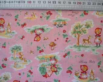 Fabric little Red Riding Hood (Lecien - Japan) - coupon 50x55cm