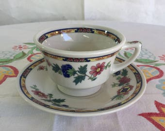 Syracuse china footed teacup and saucer
