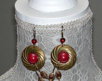 Old red Garnet Earrings
