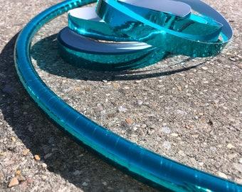 Metallic Turquoise Taped Hula Hoop