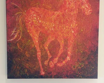 Horse in acrylic paint