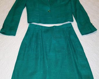 Laurice Teal Vintage 1970-1980 Two Piece Suit Size 5/6