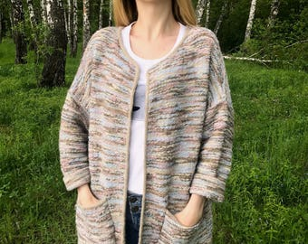Knitted summer cardigan