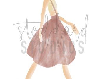 Fashion Print - Watercolor Jumper