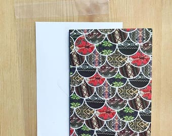 Scale Pattern Greeting Card, Fair Isle Detail