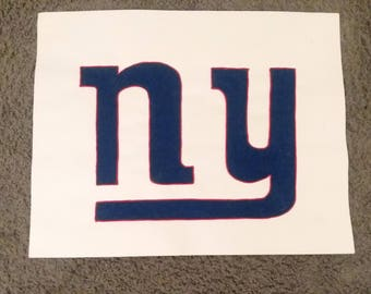 New York Giants Yarn Portrait