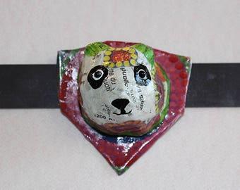 Magnet Panda en papier mâché