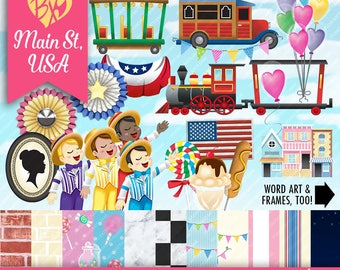 Main Street USA FULL KIT (clip art & papers)