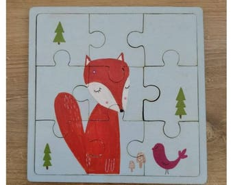 Hand painted wooden puzzle