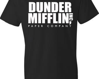 Dunder Mifflin Shirt. The Office Shirt. Dwight Schrute. Michael Scott Shirt. The Office Tv Show Shirt. Dunder Mifflin T Shirt. S - 3XL.