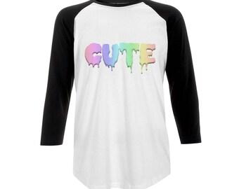 Rainbow Cute Baseball T-Shirt