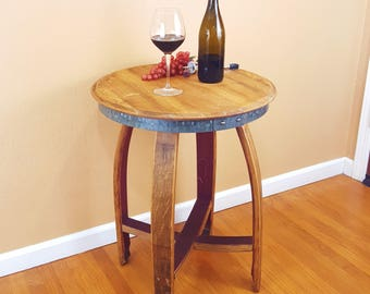 Wine Barrel Isabella Side End Table Rustic Furniture