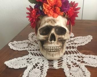 Dia de los Muertos Headpiece, Floral Crown, Fall Floral Headpiece