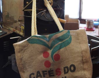 Bag in Burlap, old coffee bag