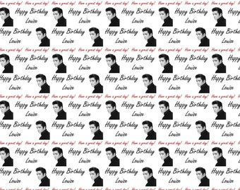 Personalised Elvis Birthday Gift Wrap With Own Name