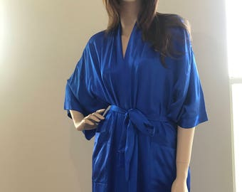 Pure silk robe by Mimosa. One size