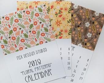 Floral 2018 Calendar, Small Desk Calendar, Wall Calendar 2018, Nature Calendar, Gifts for Her, Monthly Calendar