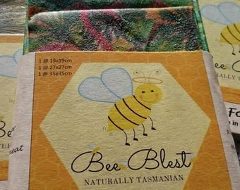 Beeswax Food Wraps (Triple Pack SML)