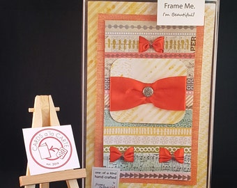 Handmade 3-Dimensional Greeting Card- Gift for Her- One of a Kind- GiftBox Series