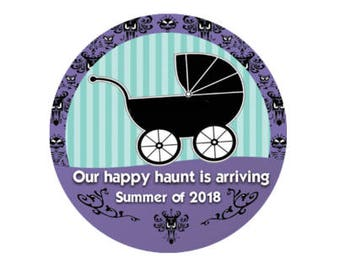 Haunted Mansion Inspired Doombuggy Baby Button - We're Expecting Button - Baby Shower Button - Baby Announcement Button